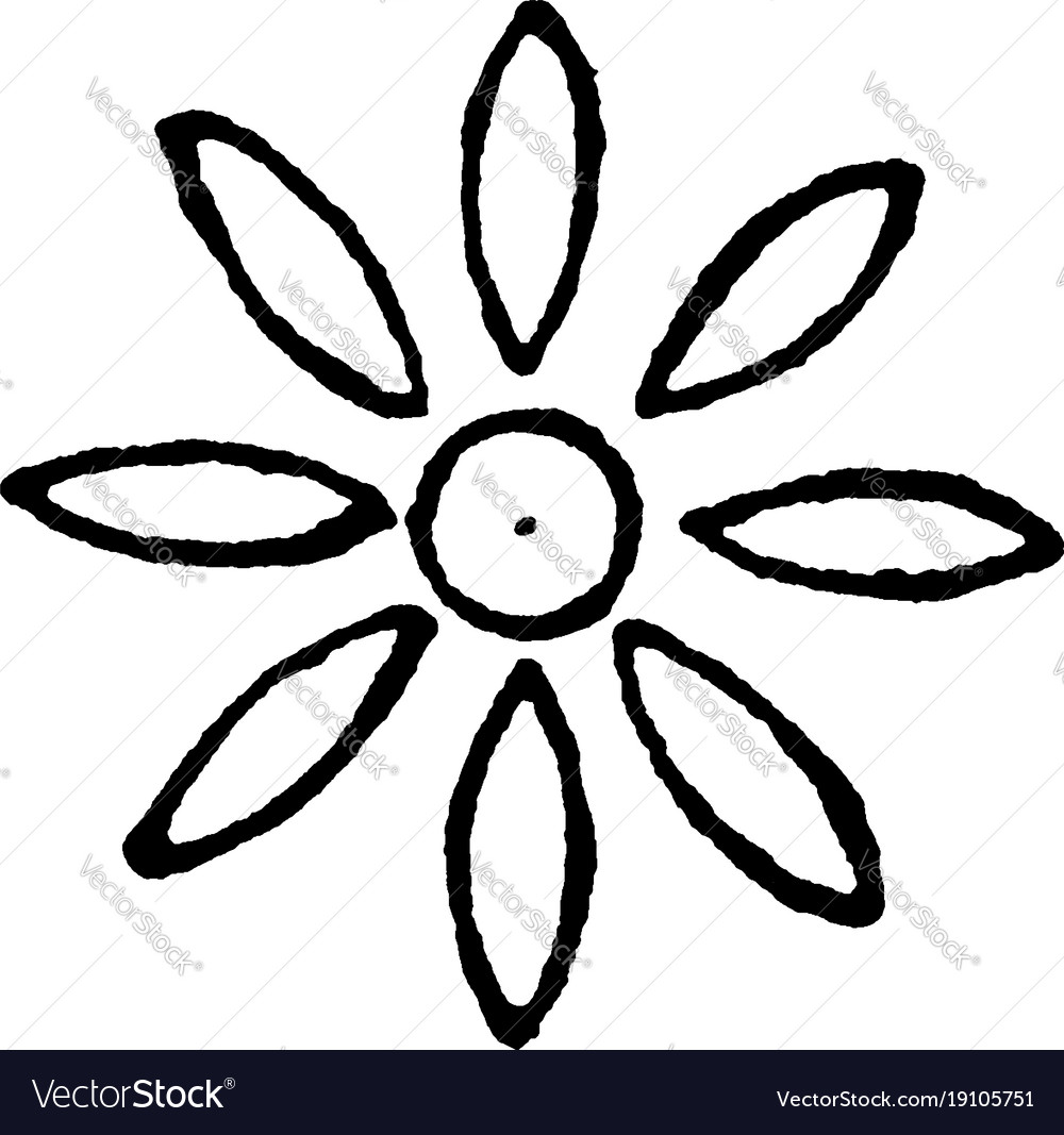 Rosette design is early spring flower of persia