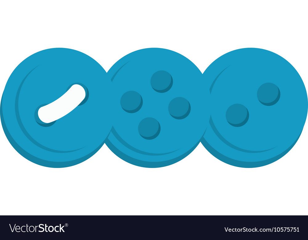 Sewing color button vector image