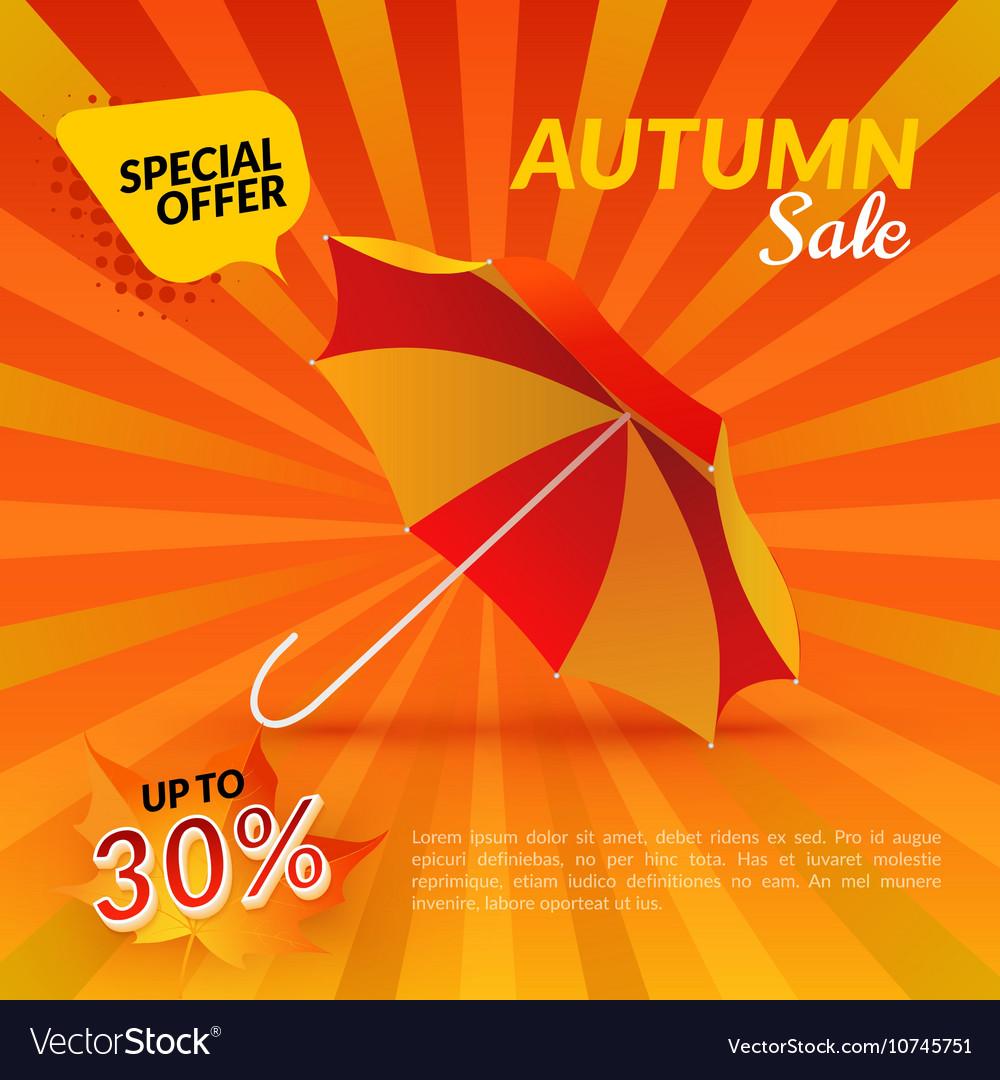 Umbrella Autumn sale