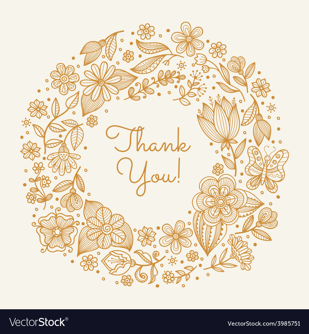 Wedding floral background vector image