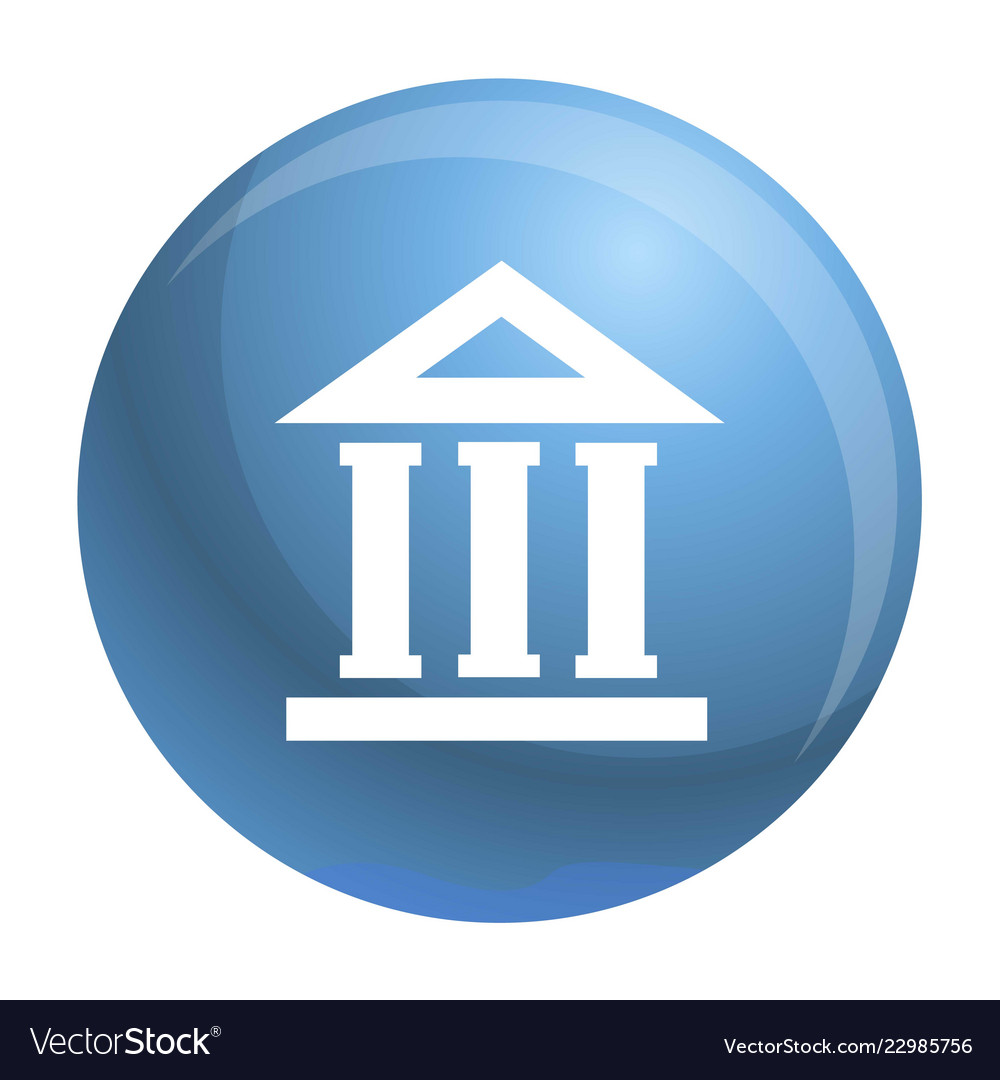 Bank building icon simple style