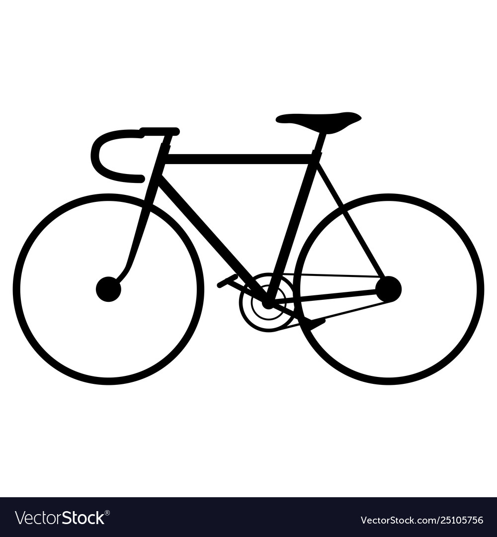Bicycle black silhouette