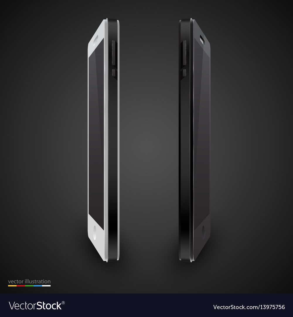 Black and white mobile phone vector image