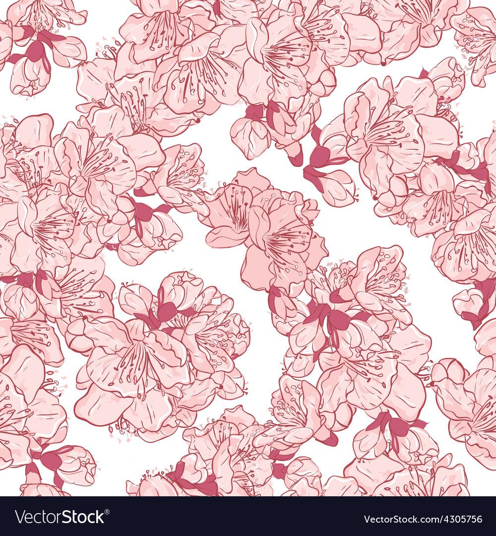 Cherry blossom sakura seamless pattern