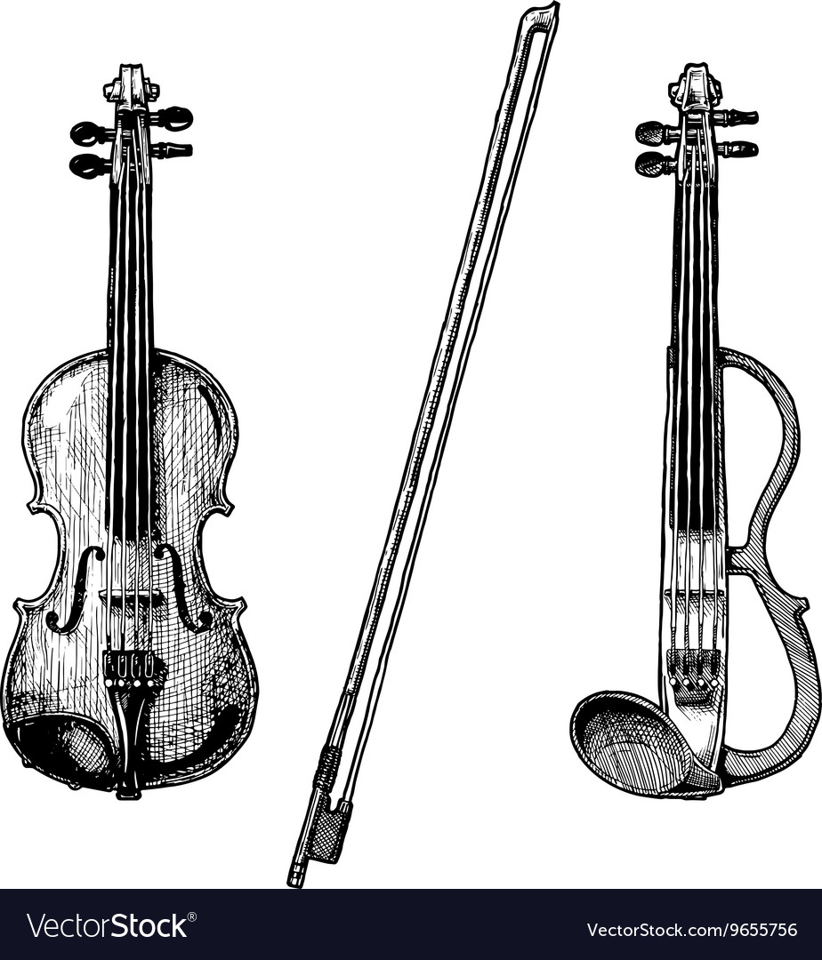 Classical and electric violins