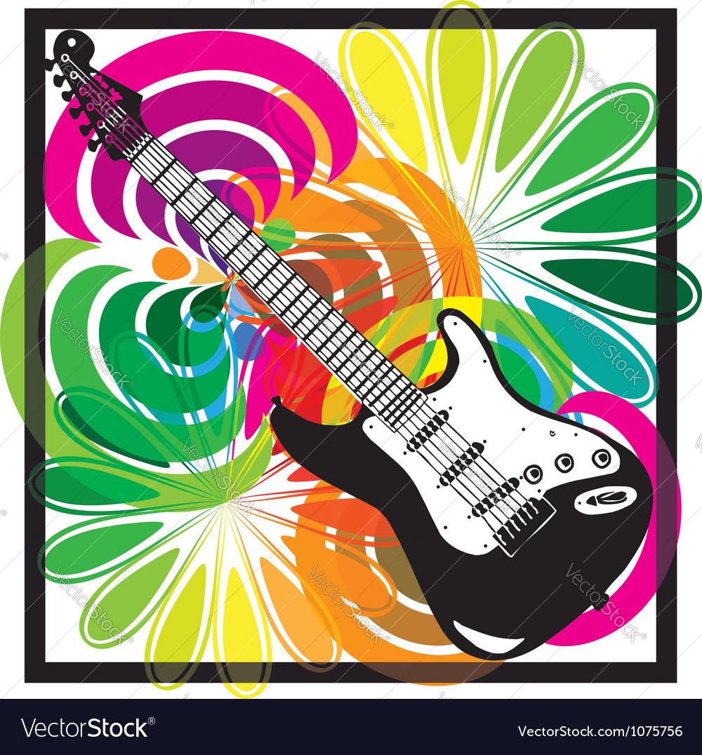 Electric guitar design vector image