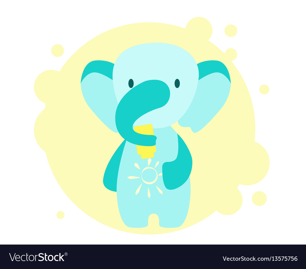 Elephant uses sunscreen