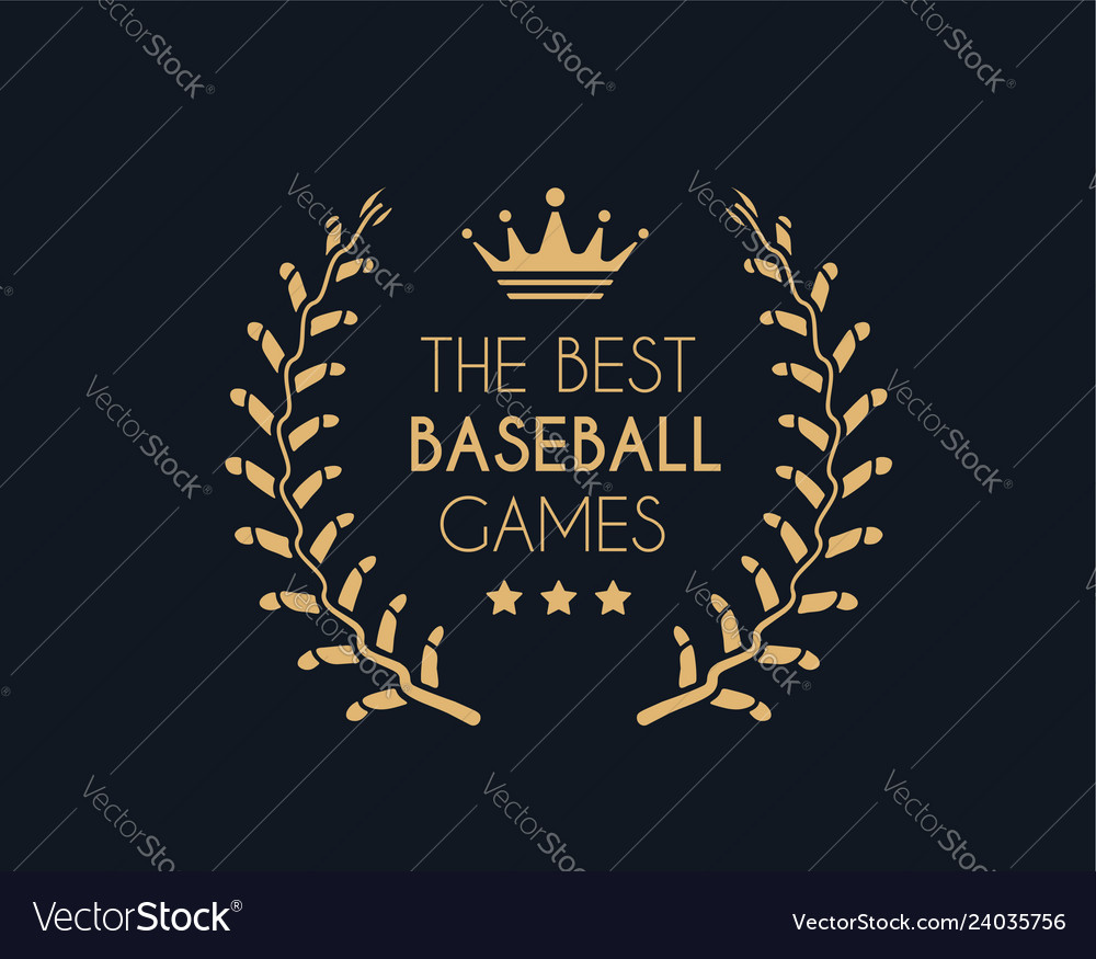 Emblem for best baseball games consisting a
