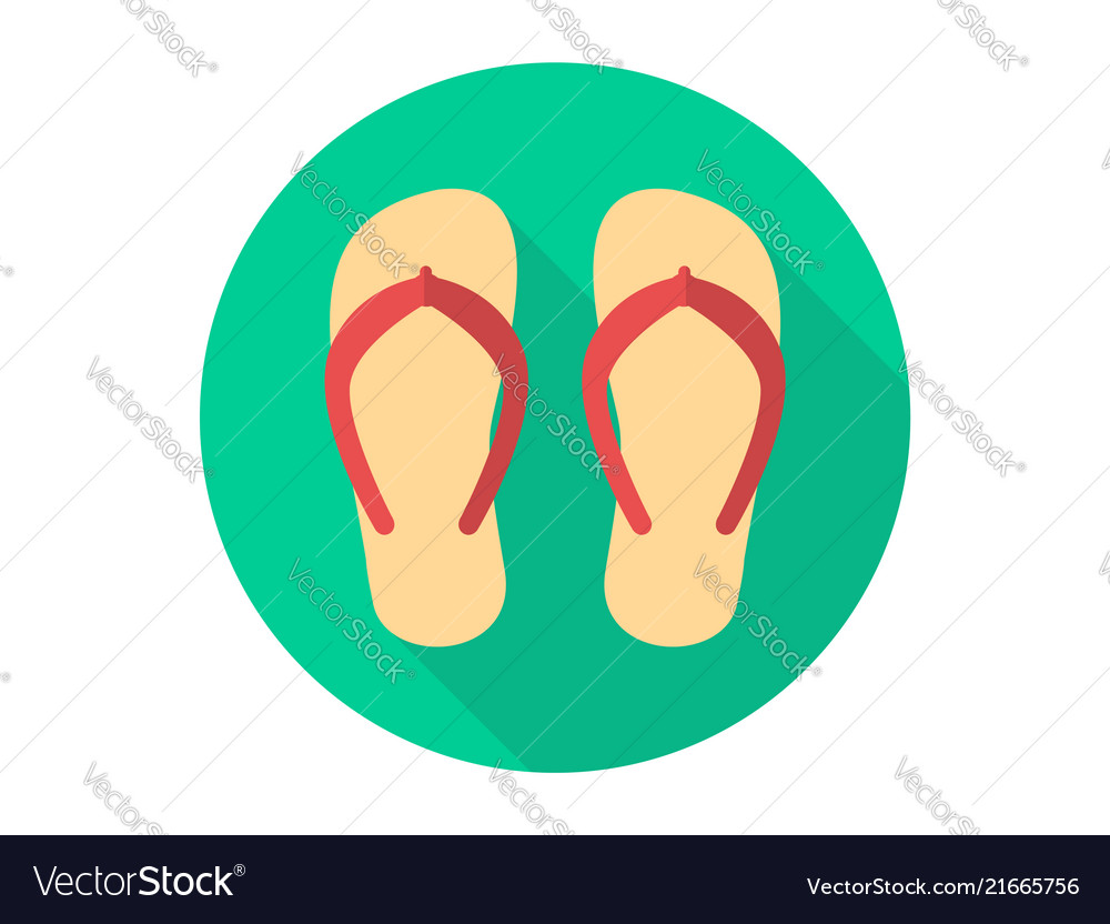 6d9a9d168e34 Flip flops icon sign symbol Royalty Free Vector Image