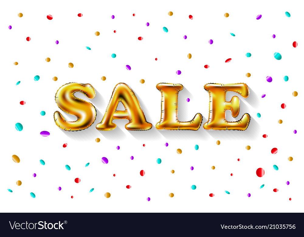 Gold sale balloons background for store banners