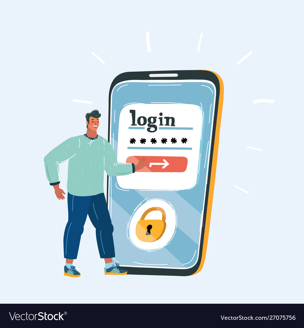 Man with big phone