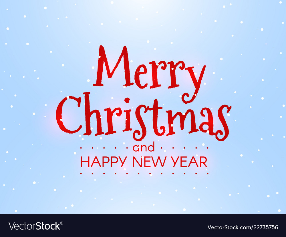 Merry christmas and happy new year winter concept