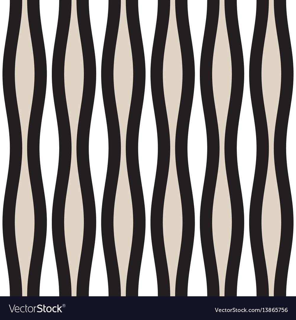 Seamless geometric pattern monochrome wavy