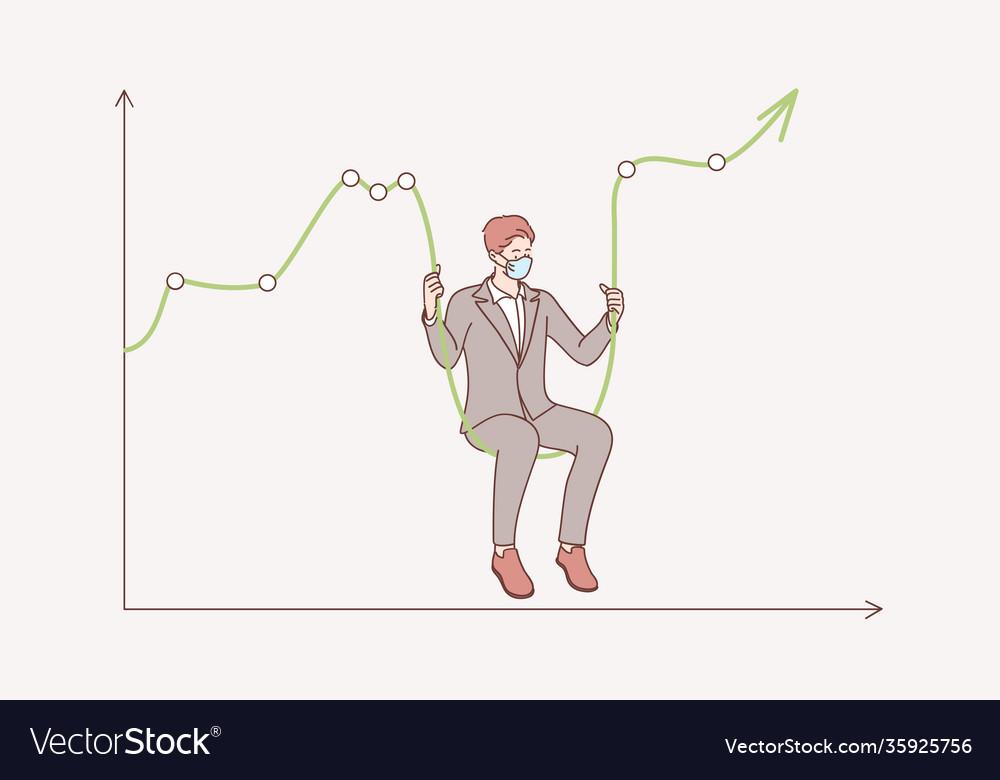 Stock market crash during coronavirus concept