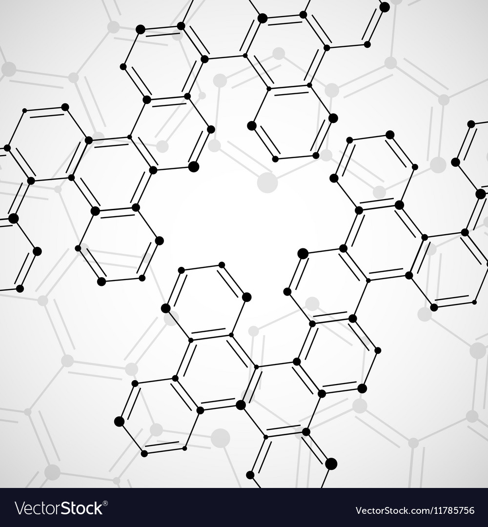Structure molecule of DNA Abstract background vector image