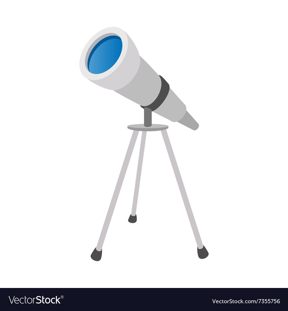 Telescope cartoon icon vector image