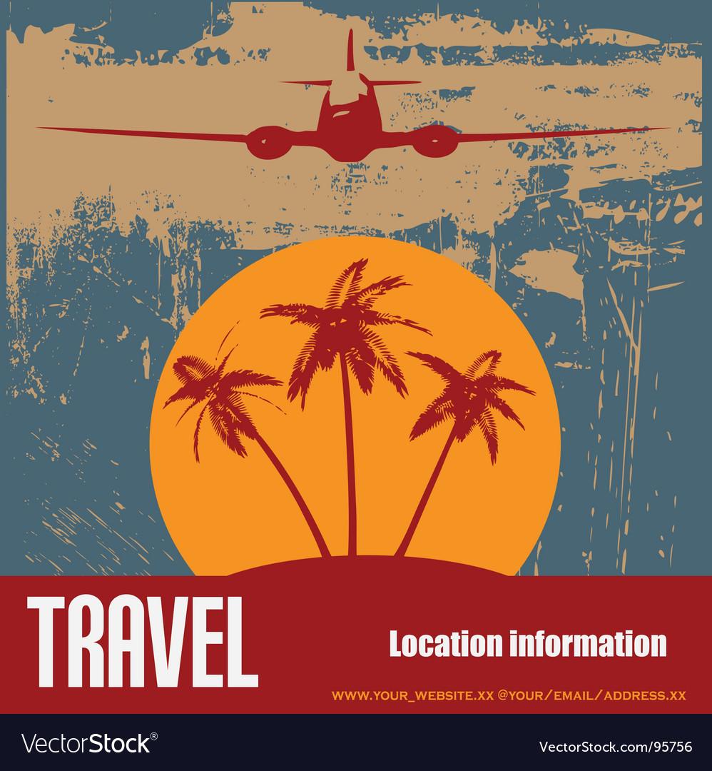 Tropical beach travel