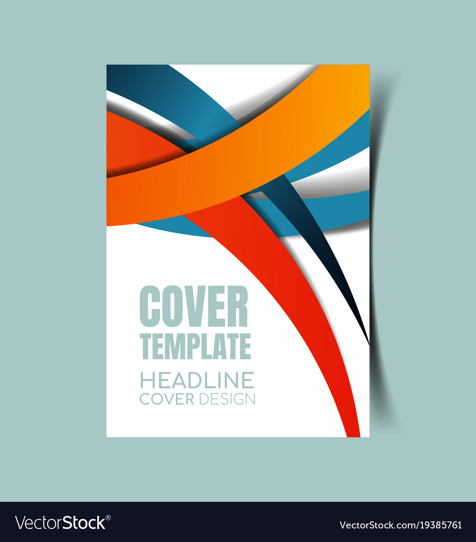 abstract report cover 26 royalty free vector image