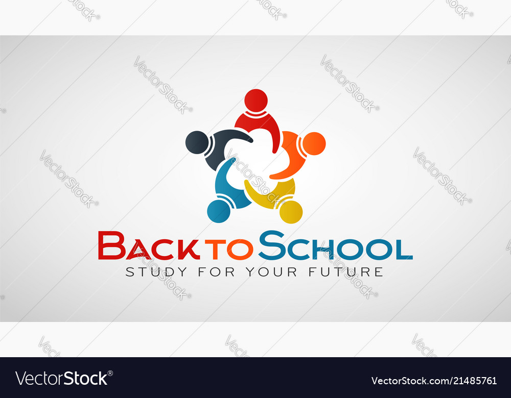 Back to school people group logo