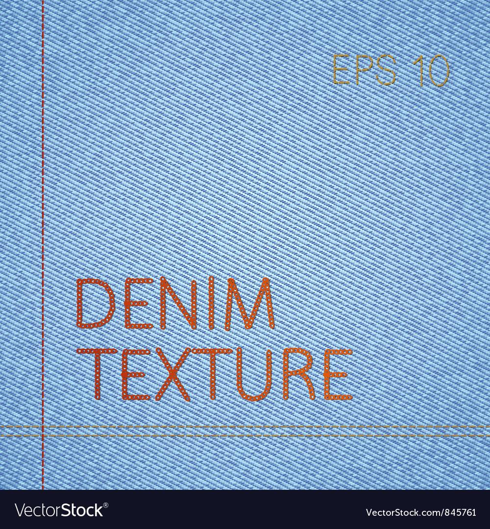 Denim texture vector image