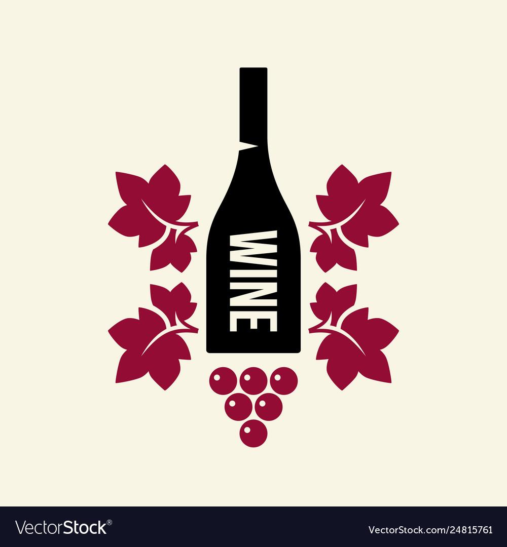 Modern wine logo sign for tavern restaurant