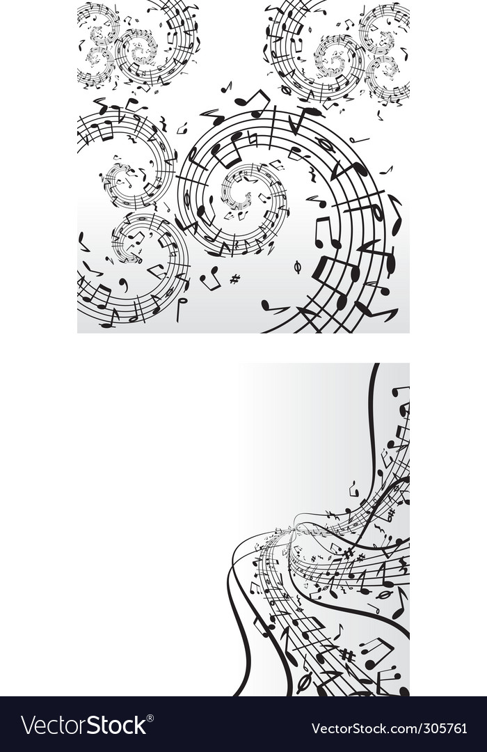 Music backdrops vector image