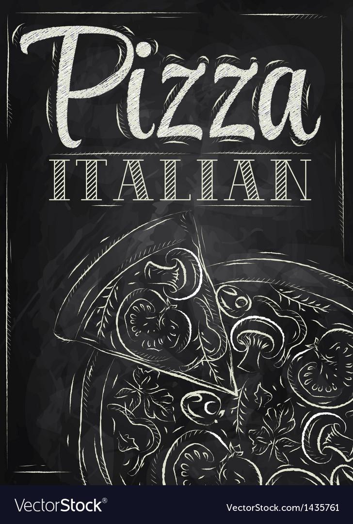 Poster Pizza chalk
