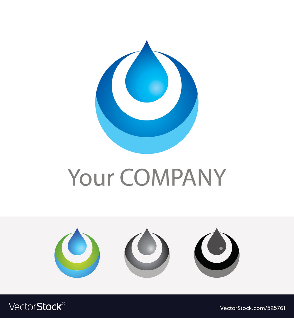 Pure water vector image