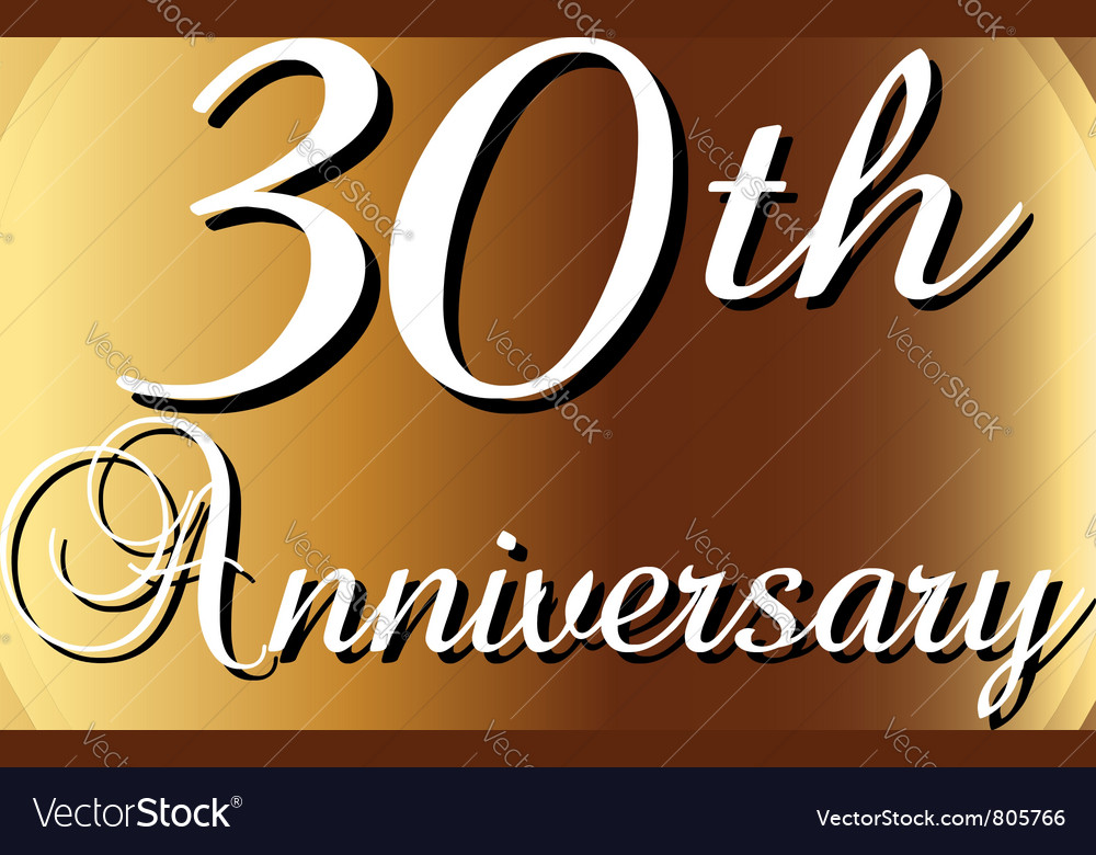 30th Anniversary Ribbon Royalty Free Vector Image
