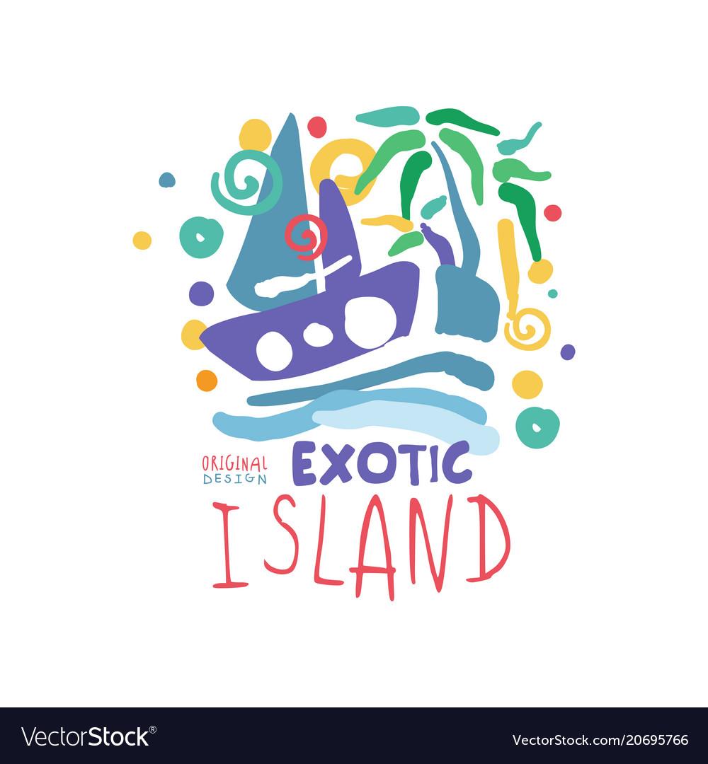 Exotic island logo template original design