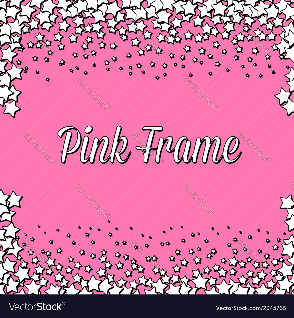 Pink frame with white stars