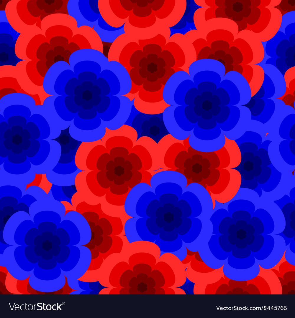 Red and blue roses pattern