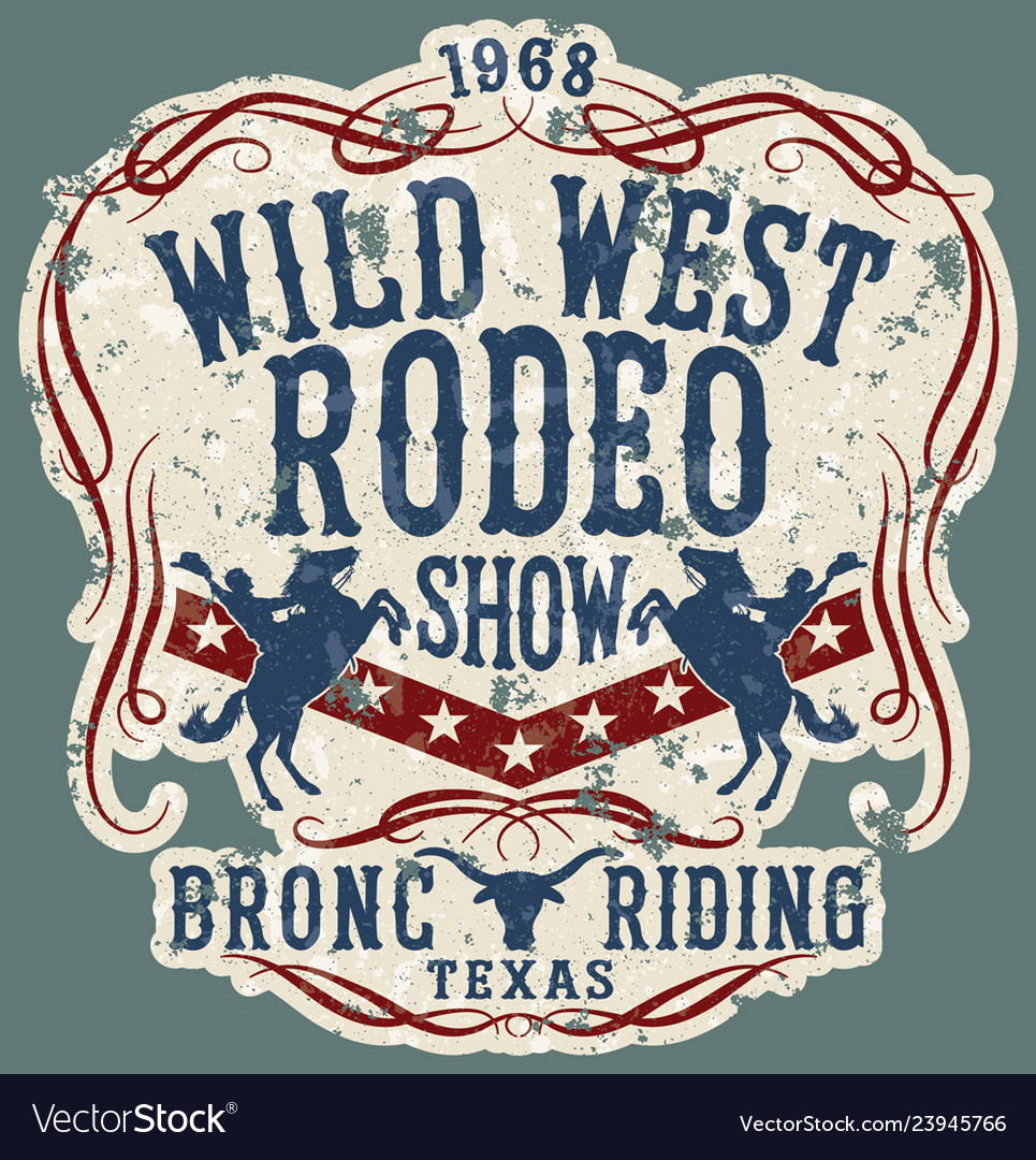 Wild west rodeo horse show