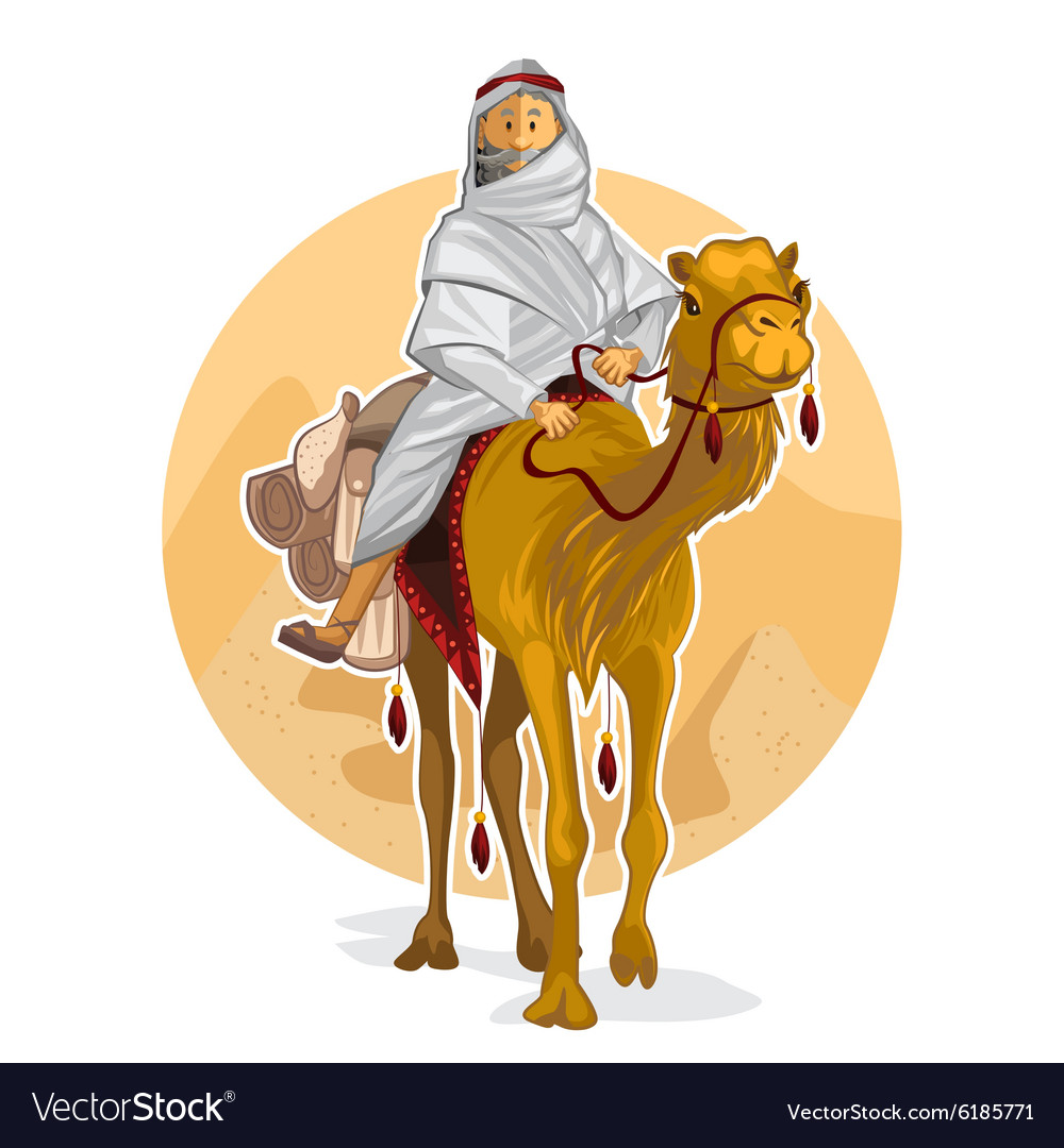 Arabian Bedouin Riding A Camel Islamic Al Hijra