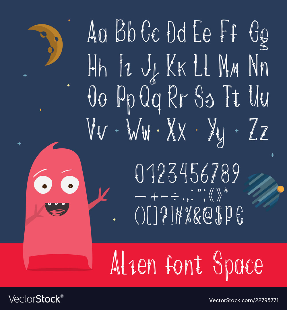 English abc letters numbers and symbols