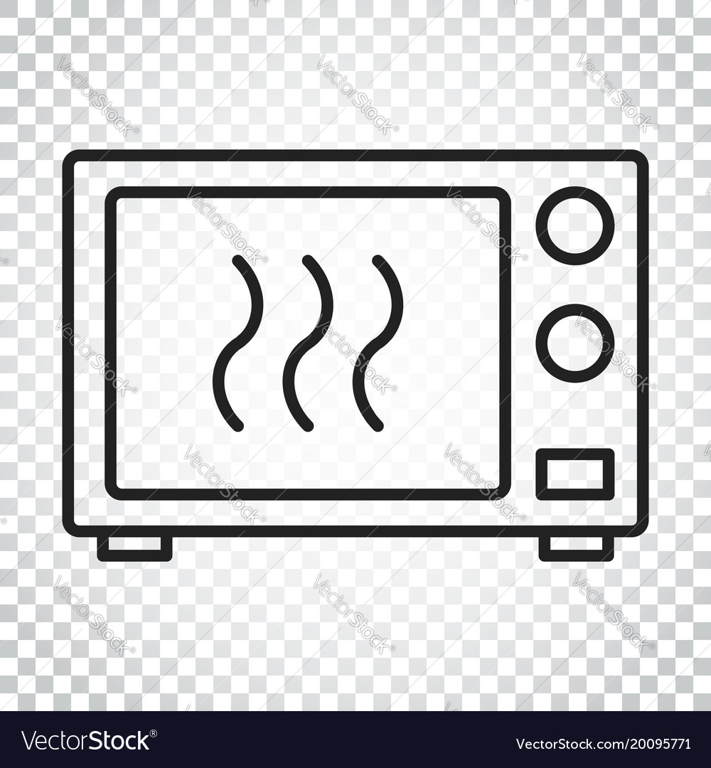 Microwave Oven Symbol Logo Vector Image