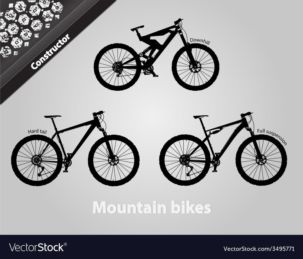 Mountain Bikes Royalty Free Vector Image Vectorstock