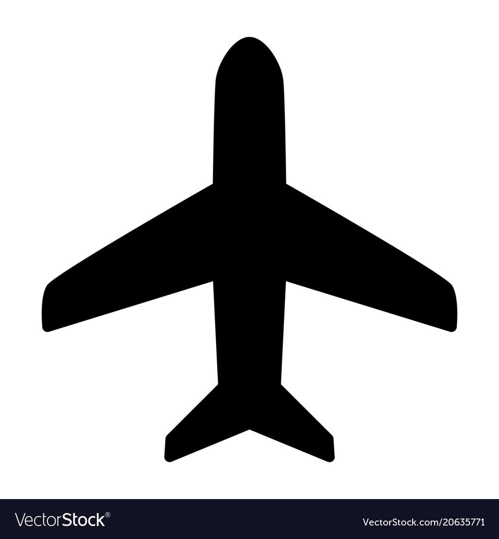 Plane Icon Simple Minimal 96x96 Pictogram Vector Image