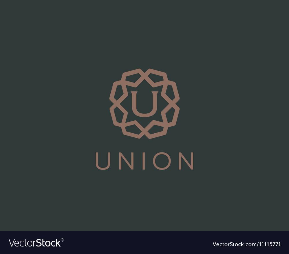 Premium letter U logo icon design Luxury