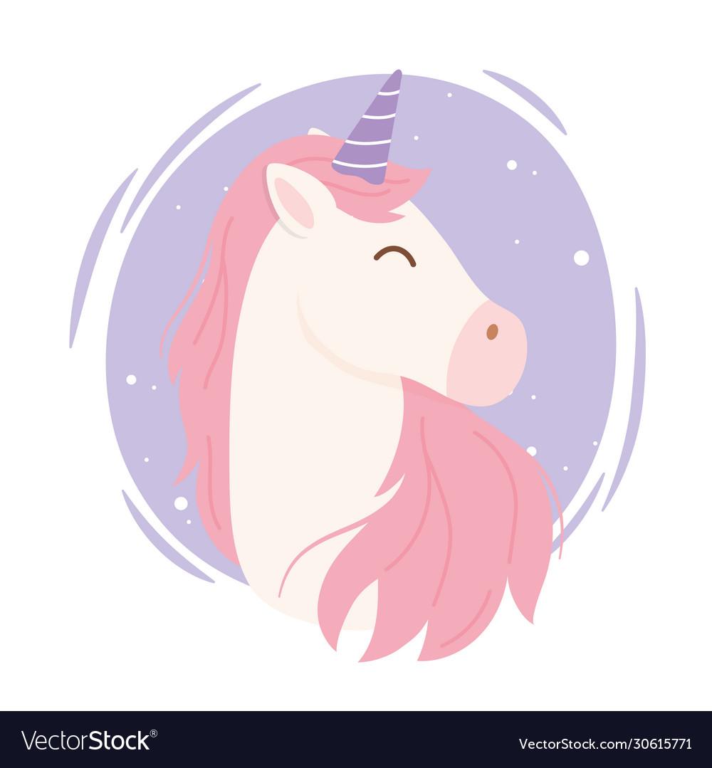 Unicorn pink hair magical fantasy cartoon cute