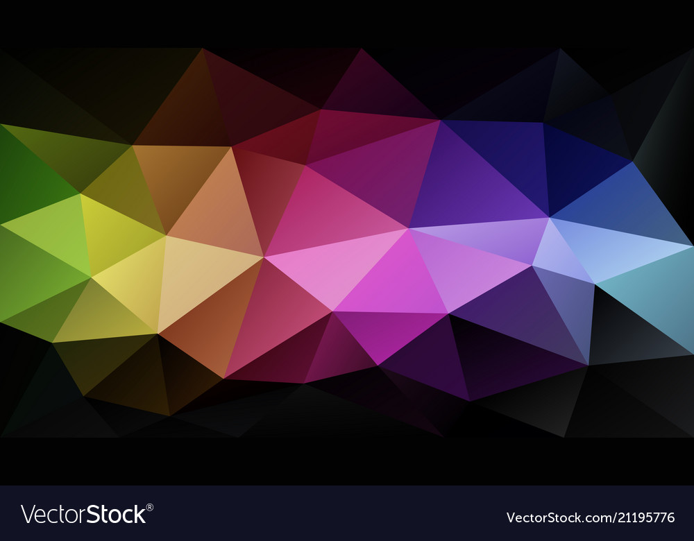 Abstract rainbow polygonal background
