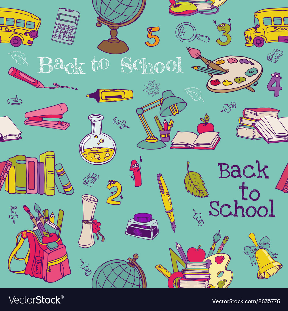 Back to School - Seamless Background