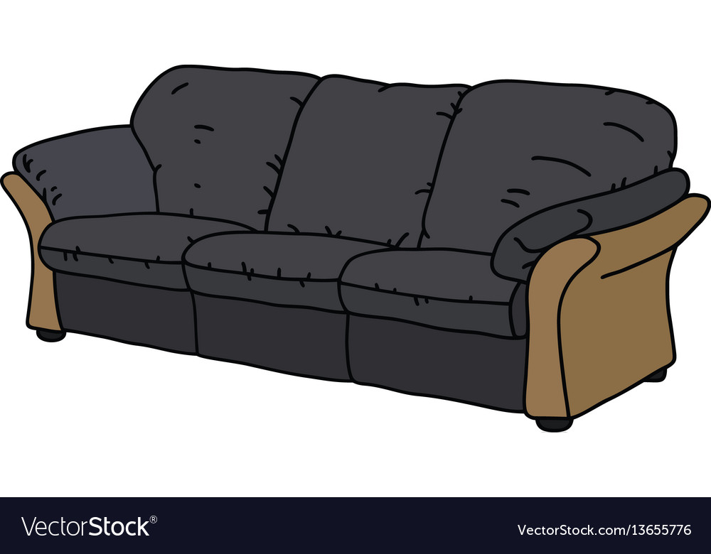 Black and beige sofa vector image
