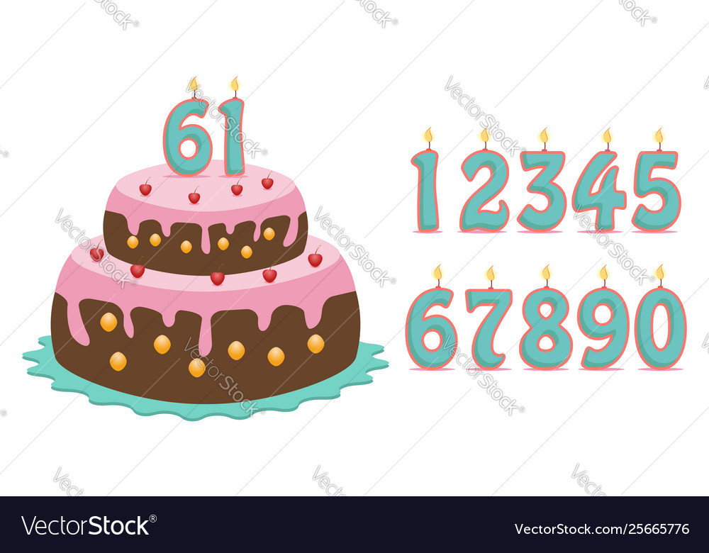 Cake with numbers