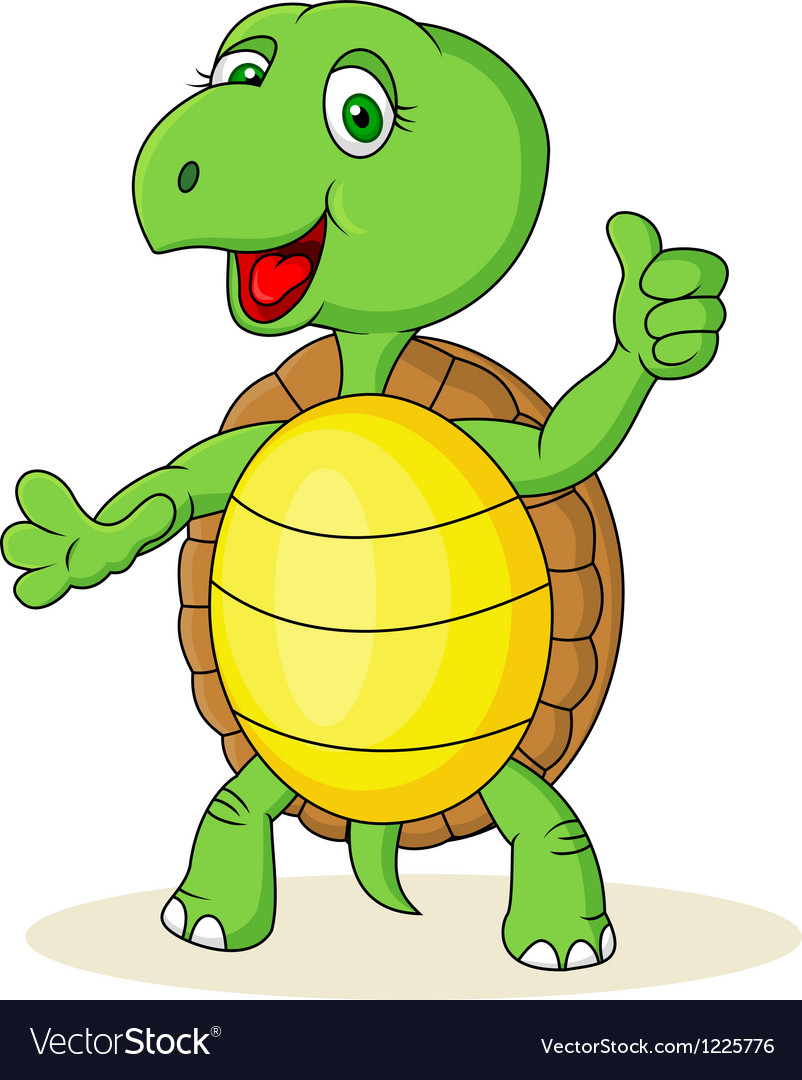 Funny Turtle With Thumb Up Royalty Free Vector Image