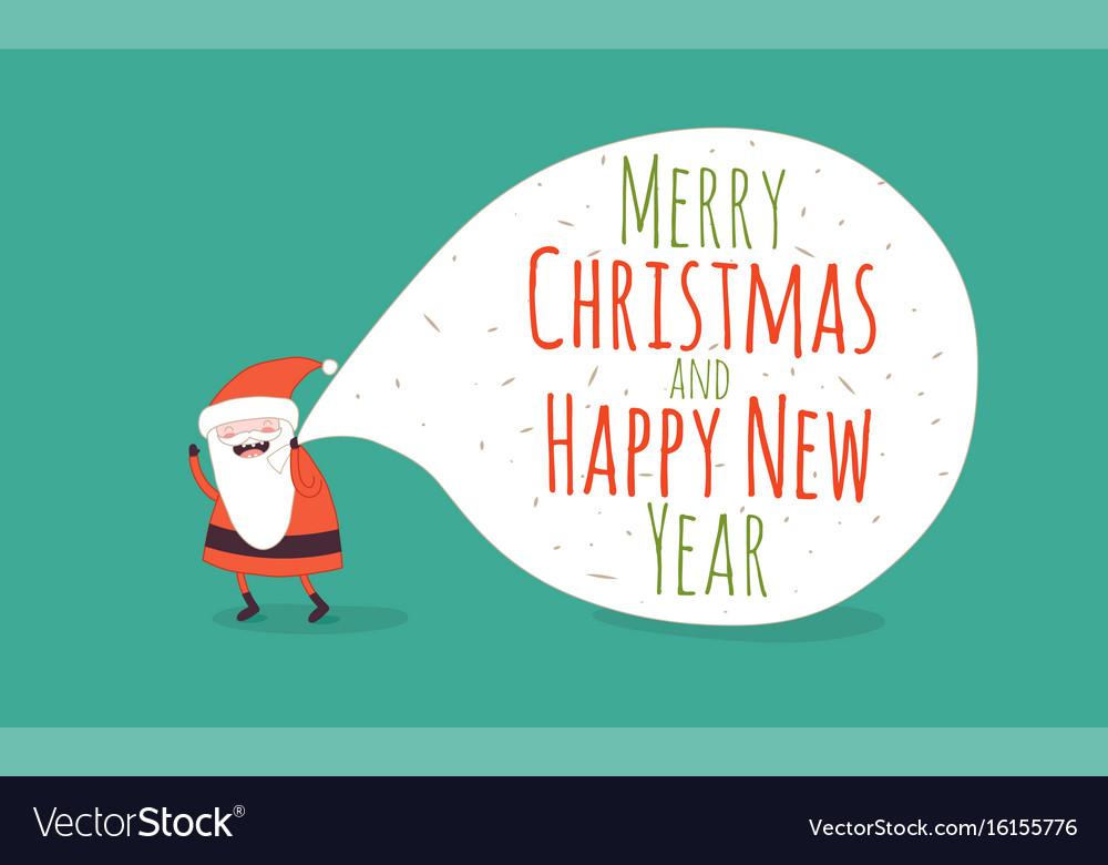 Happy new year card santa s greetings