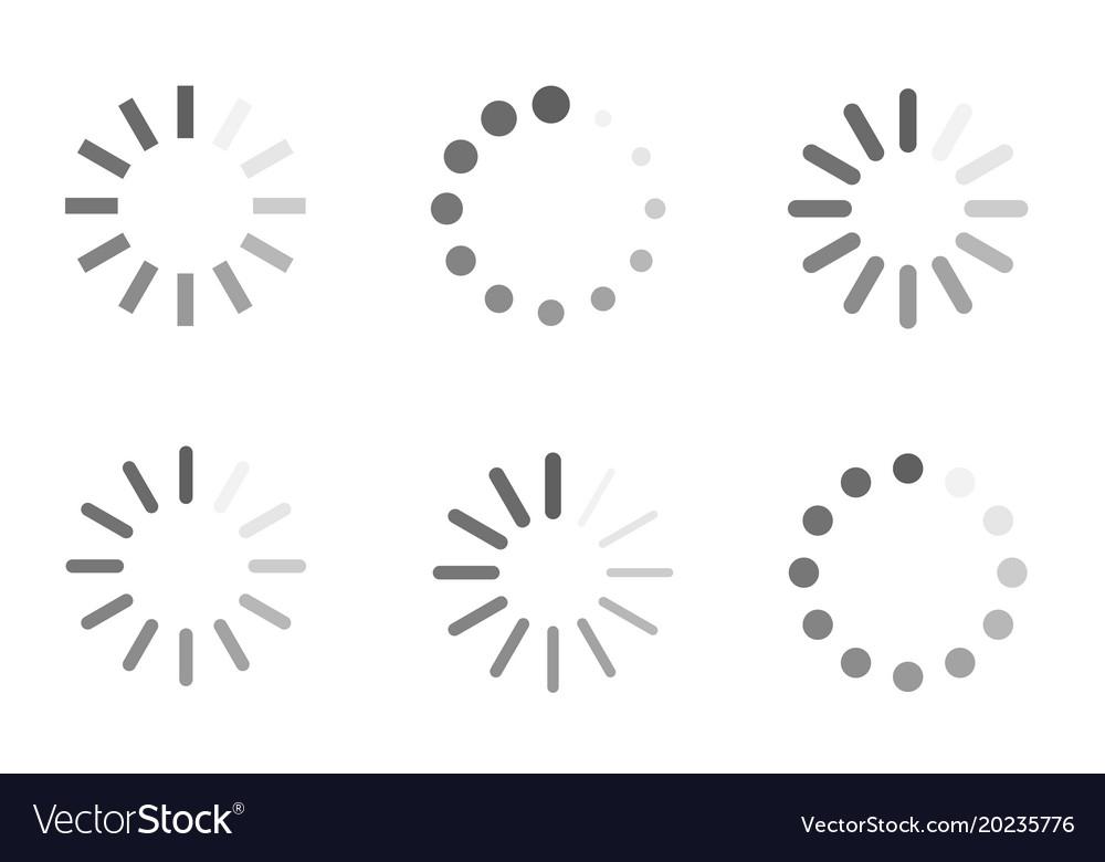 Loading icons load indicator sign