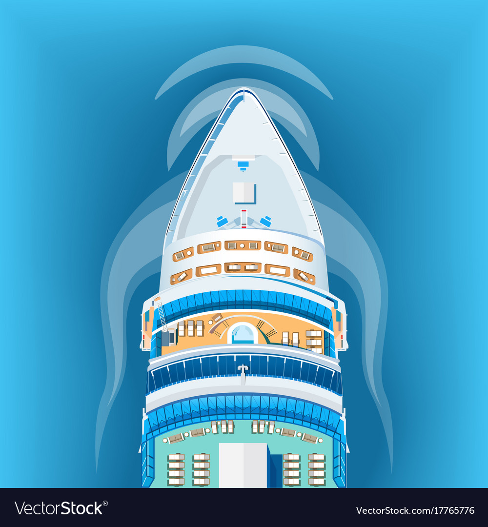 Ship top view vector image