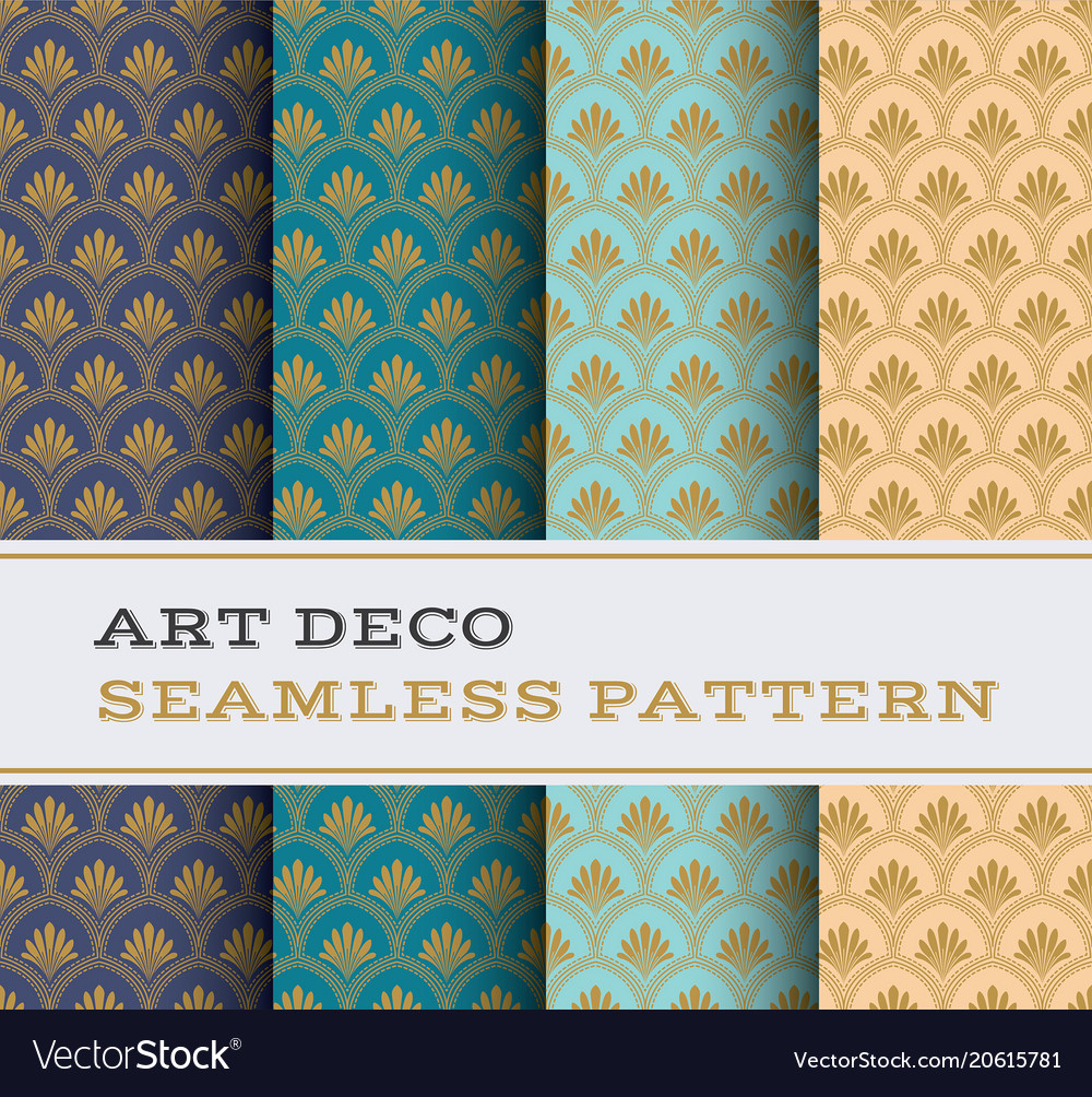 Art deco seamless pattern 23 vector image