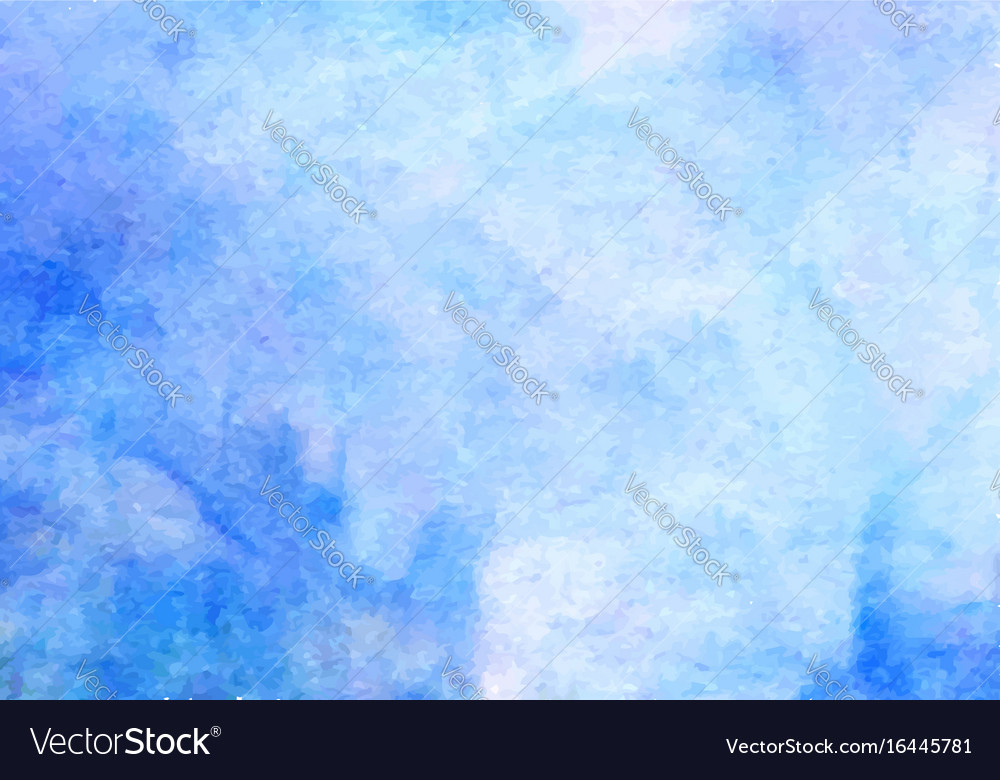 Blue watercolor background abstract hand